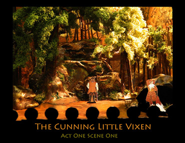The Cunning Little Vixen (set and costume design by Emily Blumenauer)